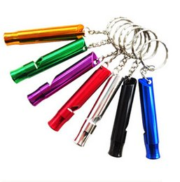 Wholesale 1000PCS HHA137 Aluminum Alloy Outdoor Survival Training Whistle For training dogs campaign mountaineering exploring Random Colors