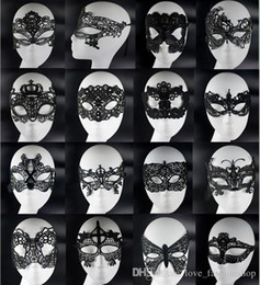 Wholesale 20pcs Sexy Lovely Lace Halloween masquerade masks Party Masks Venetian Party Half Face Mask For Christmas