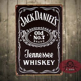 Wholesale Jack Dan Old No Whiskey Weathered Metal Sign Tin New Vintage Style