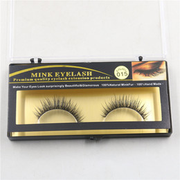 Wholesale 100 Natural Minkfur Hand made Long False Eyelash Brand Fashion Lash Blink Black Full Strip Fake Lashes MINK EyELAES Makeup Tool