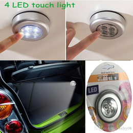 Armarios niños en Línea-Baterías Mini 4-luz LED táctil lámpara alimentada por energía Touch palo en la noche la luz para la tienda de la bici del coche Armario de luz portátil para niños