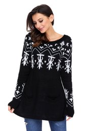 Women's and Girls' Christmas Fashion New Multi-Color Long Sleeve Embroidered Sweaters (S-XL)
