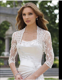 Wholesale 2016 Elegant shawl lace shrug lace wraps bolero wedding Bridal Jacket bolero jackets bridal bolero lace for wedding dresses