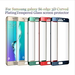 Wholesale For iPhone Plus S6 edge S7 Edge MM D Full Screen Tempered Glass Full Cover Curved Screen Protector With Retail Box