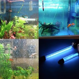 Wholesale UV Sterilizer Lamp Light Ultraviolet Filter Waterproof Water Cleaner For Aquarium Pond Coral Fish Tank W M IP68