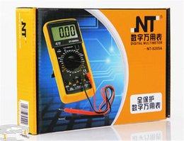 Wholesale Professional Digital Multimeter Voltmeter Ammeter AC DC OHM Volt Amp Current Tester with Probe Auto Range
