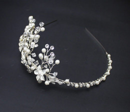 Frontlet Soft Brightly Colored Handmade Crystal Rhinestone Chain Korean Wedding Headdress Head Flower Hair Accessories For Wedding