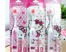 Wholesale Health electric toothbrush Hello Kitty Cartoon children's shape tooth brush for children adult