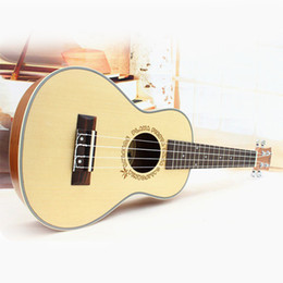 Wholesale Professional Top inch Acoustic Tenor Ukulele Guitar Music Instrument Wood Guitar Spruce Ukulele Hawaii Guitar High Quality