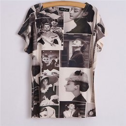 HOT SALE WOMEN VINTAGE TSHIRTS CHARACTER PHOTO PRING WITH BIG SIZE TOPS TEE 20507