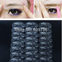 Wholesale 4pcs set Styles Grooming Stencil Kit Make Up MakeUp Shaping DIY Beauty Eyebrow Template Stencils Tools Accessories