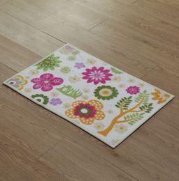 Wholesale 10pcs area rug floor carpet The new rainbow carpet manufacturers supersoft printing small fresh flower mats doormat microfiber mat