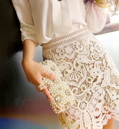 Wholesale Europe sweet elegant Advanced self portrait chiffon Embroidery lace hollow out skirt