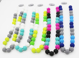 FDA approved. Baby Silicone teething necklace to wear for Little girl and little boy