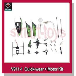Wholesale Remote Control Parts Accs WLtoys v911 v911 V911 Pro V911 V2 Helicopter Accessories Bag with Motors Screws skid steer loader cat