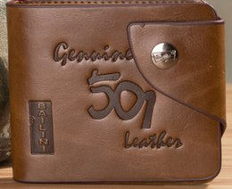 Wholesale Vintage Mens High Quality Short Leather Wallet Pockets Card Clutch Cente Bifold Purse QB018