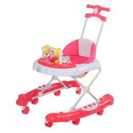 Wholesale New Arrival Baby Walkers with Wheels Durable Foldable Multifunctional Baby Walker Stroller Adjustable Height Stroller JN0044 smileseller