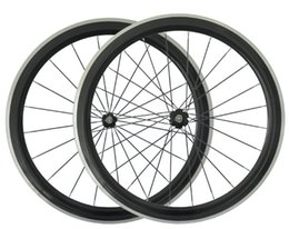 Wholesale Aluminium carbon wheels for road bike alloy braking surface mm clincher Glossy Matte carbon road wheels