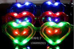 christmas toy LED glasses HEART SHAPE carnival festival holiday supplies party decoration luminous christmas