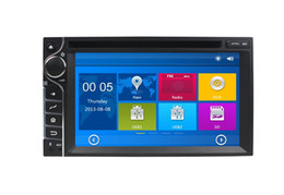 "HD 2 din 6.2"" Universal Car Radio Car DVD Player GPS Navigation Bluetooth IPOD TV SWC USB AUX IN Touch Screen"