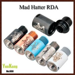 DIY Vaporizador Mad Hatter RDA Clone Rebuidable goteo atomizador Cobre Pin Peek aislador 510 hilo de ajuste 22 mm Mech Mods Box Mod DHL libre desde cobre vaporizador mod fabricantes