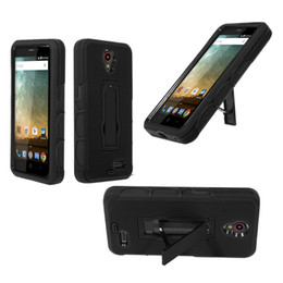 Hot Sell All in One Heavy Duty With Kickstand Shockproof Cell Phone Case TPU+PC For ZTE N9132