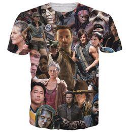 Wholesale 2016 New Arrive The Walking Dead Paparazzi T Shirt Rick Grimes Carl Daryl Michonne zombies d summer style tee t shirt women men