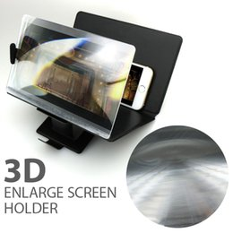 Wholesale Universal Mobile Phone D Enlarged Screen Amplifier Eyes Protection Display Folding Enlarged Expander Leather Stand For Note5 S6 iPhone s