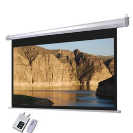 Wholesale Cynthia Screens inch Motorized Projectior Screen D HD Electric Screen Fabric Projector Office Equipment for Projector