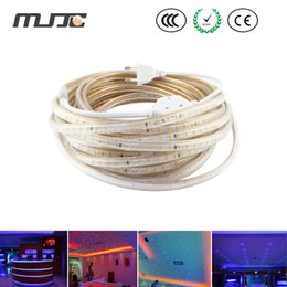 Cheap 50M Epistar SMD3014 120 LEDs 220V LED Strips LED Christmas Lights with a Power plug IP67 outdoor lights