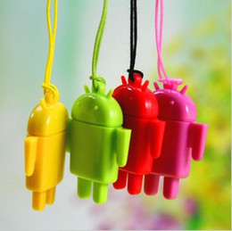 Wholesale Lovely Mini Lover Android Robot USB Micro SD Card Reader TF Memory Card Reader Best quality