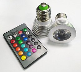 3W LED RGB Bulb 16 Color Changing 3W LED Spotlights RGB led Light Bulb Lamp E27 GU10 E14 MR16 GU5.3 with 24 Key Remote Control 85-265V & 12V