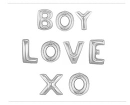 Wholesale Large Letter Foil Balloons - 16 inch Mylar Foil Balloon Silver Full Alphabet Large English Letters A-Z For Christmas Party Wedding Decoration GNX-16*20