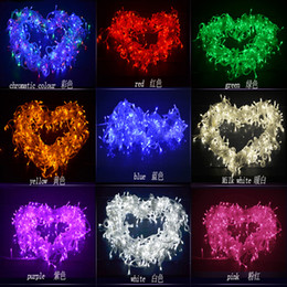 Wholesale PROMOTION LEDS LED String Lights M V V for Clear Wire Christmas decoration X mas holiday light