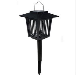 Wholesale Antique Solar Garden Mosquito Killer Lamp Yard Lawn LED Pendant Light Lantern