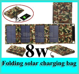 Wholesale 8W High efficiency outdoor Portable Folding solar charging bag solar panel charger For Mobilephone Power Bank MP3 camera