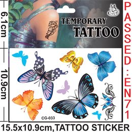 Wholesale Flowers Butterf The princess Spider man Anime Cartoon Tattoo Stickers Monster high Body complete tattoo kit Women Baby Children s Gift