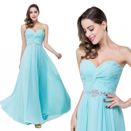 2017 Light Sky Blue Maxi Bridesmaid Dresses Madred Chiffon Ruffles Long Prom Dresses Wedding Party Dress Maid of Honor Gowns Cheap cps258