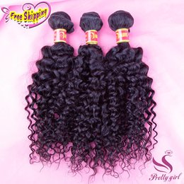 Indian Malaysian Peruvian Brazilian Virgin Hair Deep Curly 8A Unprocessed Kinky Curly Human Hair Weave Bundles Natural Black Hair Extensions