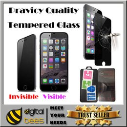 Wholesale Privacy tempered glass For Iphone plus invisible private protection screen protector film for Sumsung galaxy s7 s6 edge mm h antiy spy