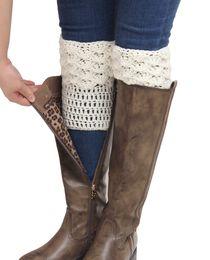 Wholesale-Fashion 2015 New Leg Warmers for Women Knit Boot Cuffs Crochet Boot Socks Yellow Boot Covers Ladies Winter Leg Warmer Beenwarmer