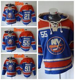Wholesale New York Islanders Hoody Kyle Okposo Johnny Boychuk John Tavares Hooded Ice Hockey Pullover Sweatshirt Hoodies Blue