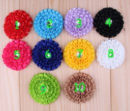 Lovely Multilayer Ribbon Sun Flowers With Acrylic Rhinestone Artificial Flatback Fabric Ribbon Flowers Baby Girl Christmas Hair Accessories