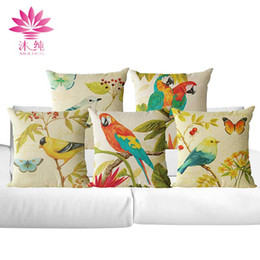 muchun Brand Thicken Pillow Case Flowers and Birds New Year Product 45*45cm Christmas Linen Home Textiles Sofa Throw Pillow Cover