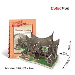 Wholesale 3D Puzzles World Style Series Architecture Southeast Asia Series Classical Architecture Puzzles Best Gift For Kids EMS DHL