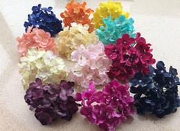Artificial Hydrangea Flower Heads Plastics Flowers Hydrangeas Flower Head with stem for Wedding Party Centerpieces Floral Decor