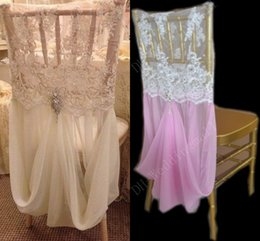 Wholesale Sample Link For Beautiful Hot Sale Lace and Chiffon With Crystals Chair Covers Chair Sashes Sample