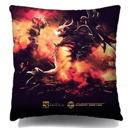 Wholesale Dota Game player creative Cushion Pillow cover Cartoon animated custom hot sale of DIY HD Digital printing used for car sofa