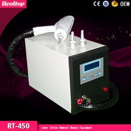 ND YAG láser para la eliminación de tatuajes máquina de belleza para el uso del salón hogar RT-450 Venta caliente Q-Switched desde máquinas de láser usados en venta proveedores