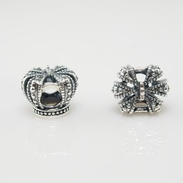 ROYAL CROWN CHARM DIY Beads Real Solid 925 Sterling Silver Not Plated Fits Original Pandora Bracelets & Bangles & Necklaces